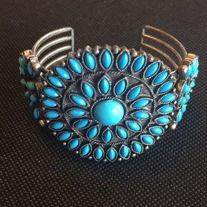 Vintage Avon turquoise sunburst bracelet excellent
